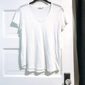 Vince white Pima cotton tee